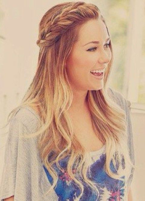 Lauren Conrad Hairstyles: Ombre Hair with Braids