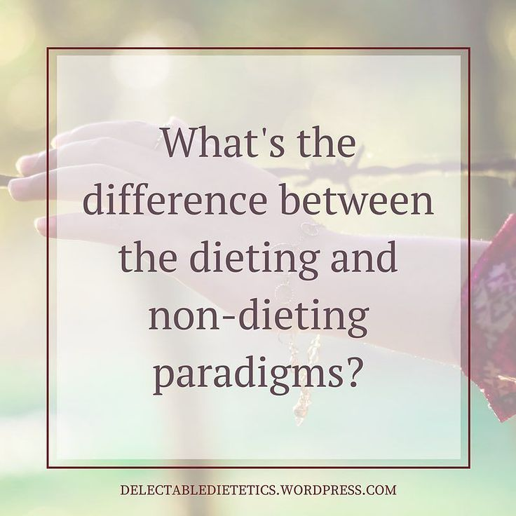 What's the difference between the dieting and non-dieting paradigms? . Weight Centered Dieting Paradigm vs Non-Dieting Weight Neutral Paradigm Flexible eating patterns vs Inflexible eating patterns Fixing body mentality vs Celebrating body mentality Focused on weight/weight loss vs Focused on health (Nourishment and pleasure via positive eating and lifestyle behaviour changes) Fear driven vs Trust driven External diet plans or food & eating rules vs Internal connection with appetite and…