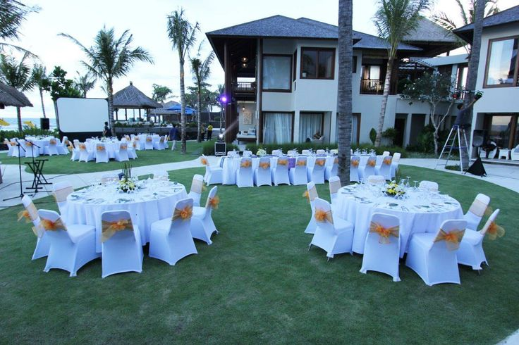 Wedding Dinner set up at Puri Salila, Anapuri Villas.