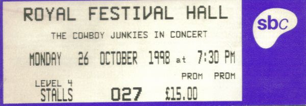 https://flic.kr/p/H3pv73 | 19981026CowboyJunkies | 26 Oct 1998 Cowboy Junkies Royal Festival Hall London