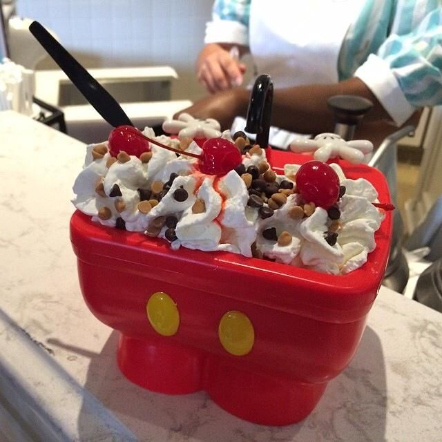 Mickey's Kitchen Sink ~ Magic Kingdom- check to see if available at Plaza ice cream parlor at Disneyland