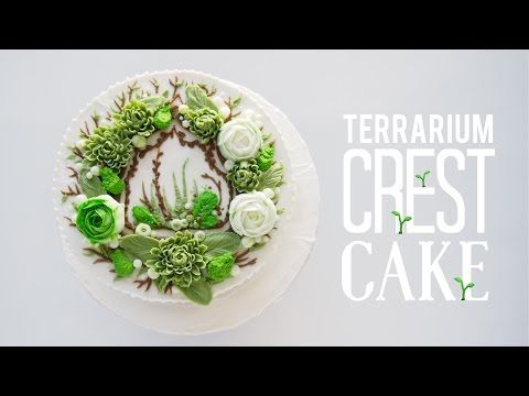 Vintage Terrarium Birdcage Cake with buttercream succulents - cake decorating tutorial - it hangs! - YouTube