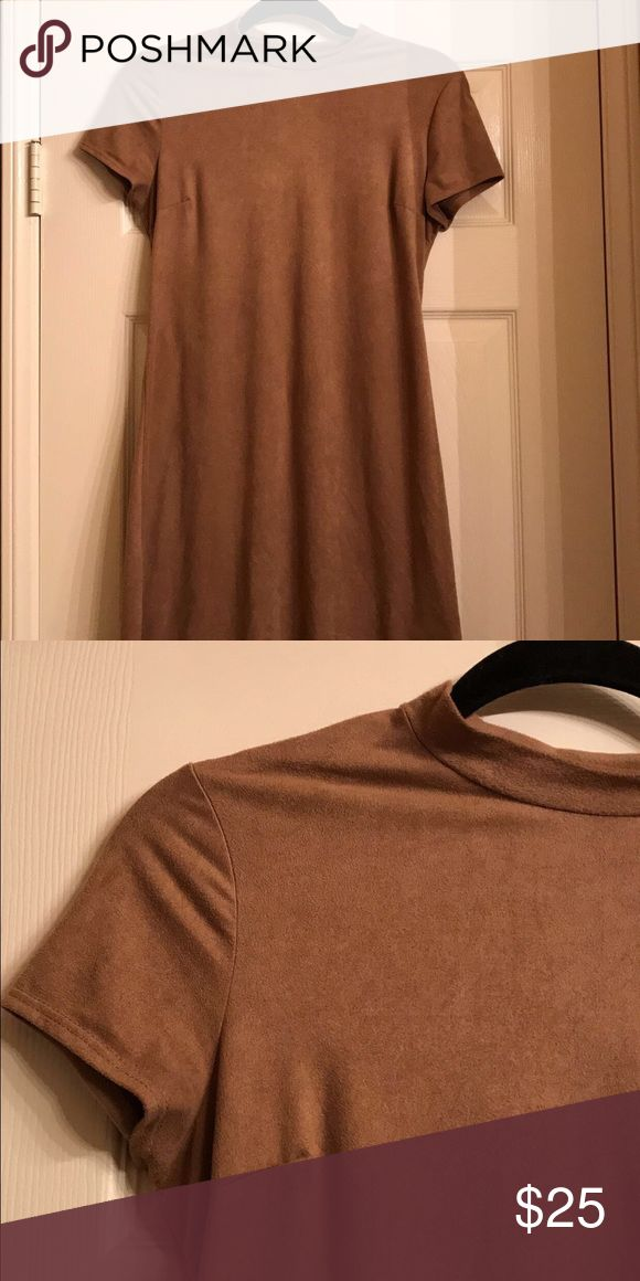 brown suede dress super cute and super soft compliments the body well i