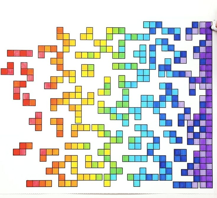 Oddly Satisfying Coloring Tetris SquaresM Jojo