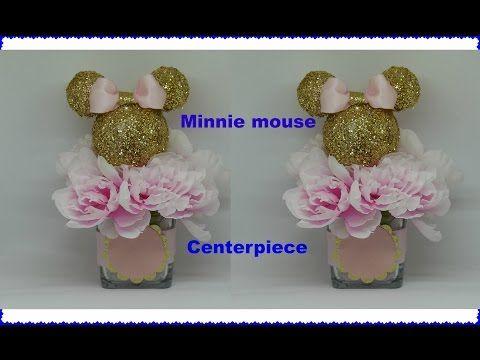 Diy Dollar Tree Minnie Mouse Centerpiece Youtube