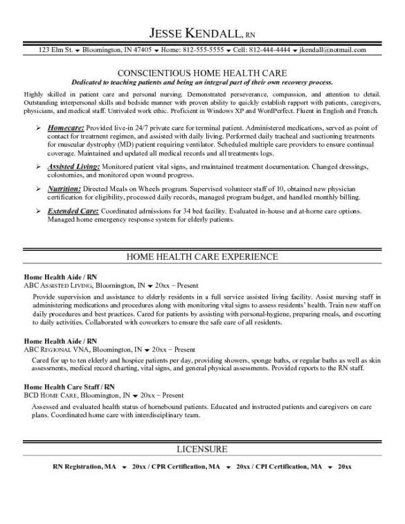health care resume objective and builder perfect conscientious home example free sample
