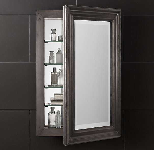 Zinc medicine cabinet bath pinterest medicine for Restoration hardware bathroom cabinets
