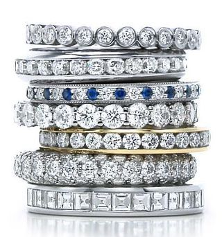 Tiffany diamond stacks sapphire and diamond one is my dream eternity ring nudge nudge wink wink!