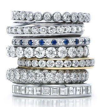 Tiffany diamond stacks