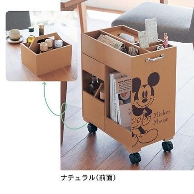 DISNEY Mickey Wagon Kitchen Dining Living Furniture Storing Made in Japan T3901