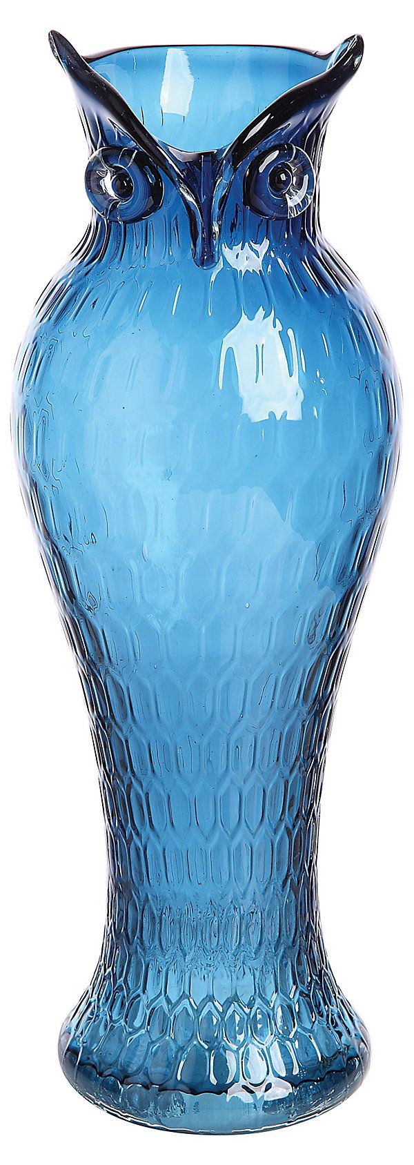 "Cool vase!!! One Kings Lane - Country Fresh - 14"" Blue Owl Vase..........this could go on my Christmas wish list!"