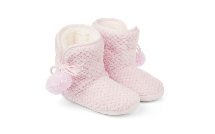 Pink Fluffy Slipper Boots