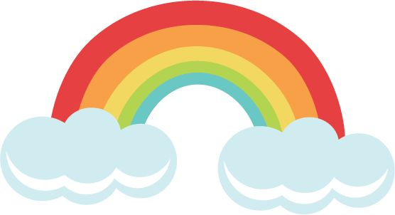 Rainbow SVG file for cutting machines