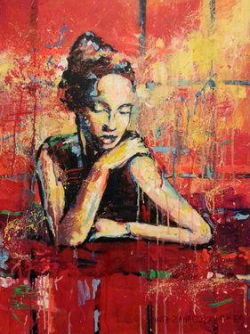 "Saatchi Online Artist Marta Zawadzka; Painting, ""Manon - canvas"" #art"