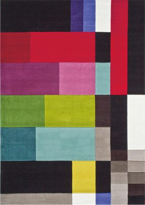 Colour Rays Multi Colored Rug From The Kids Collection Iii At Modern Area Rugs