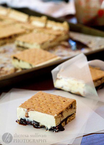 Mores Ice Cream Sandwiches   Restaurant Grade   Pinterest