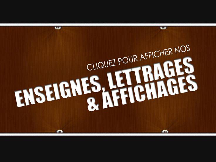 Enseignes, lettrages & affichages ---  CRÉATION ET IMPRESSION TERREBONNE Pour plus d'info, www.iplasma.ca