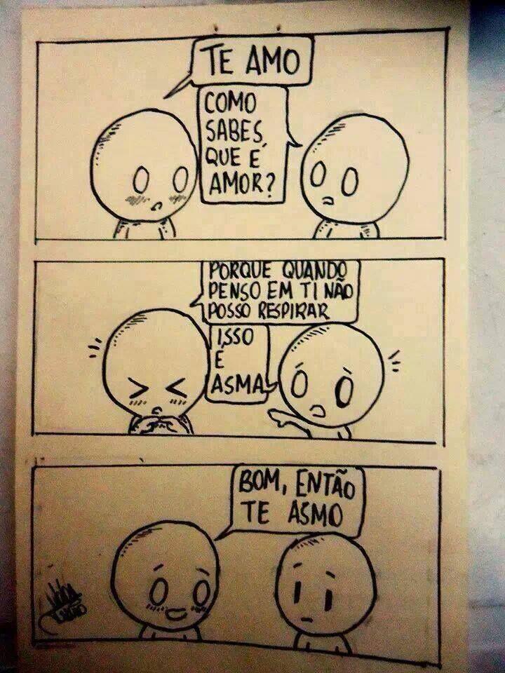 Te asmo muito <3 #quadrinhos #tirinhas