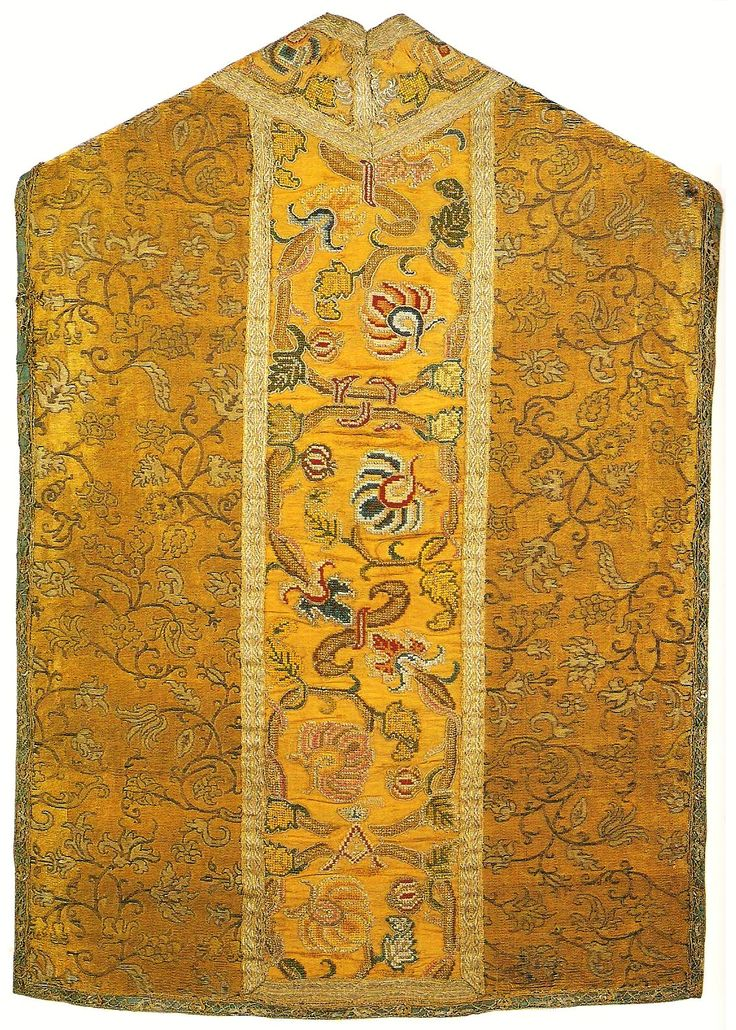 Chasuble established by Anna Jagiellon by Anonymous from Kraków or Warsaw (side fabric from Italy), ca. 1596 (PD-art/old), Muzeum Katedralne na Wawelu