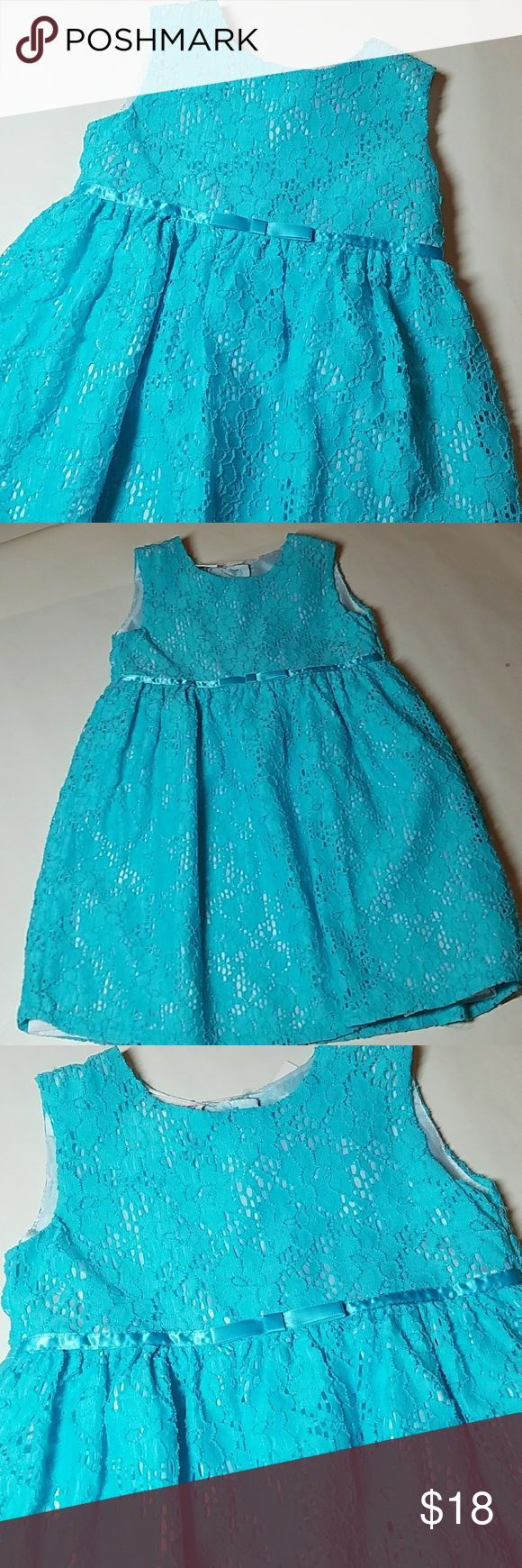 NWT Blueberi Boulevard turquoise Lace Dress Gorgeous turquoise in oh-so-girly lace.  Fully lined in white. As always, smoke and pet-free Blueberi Boulevard Dresses