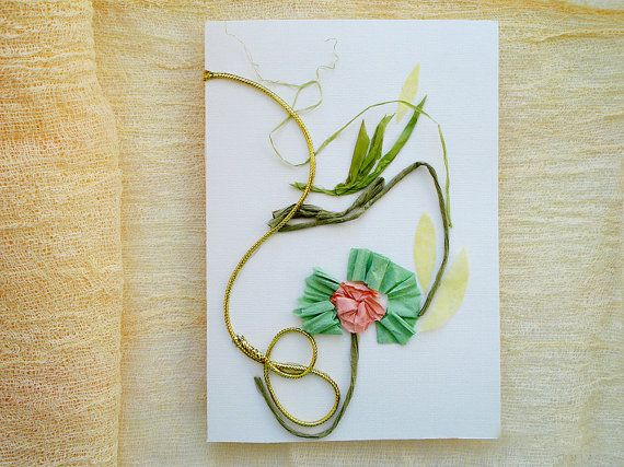 Original collage card Art card Birthday card by FloralCollage