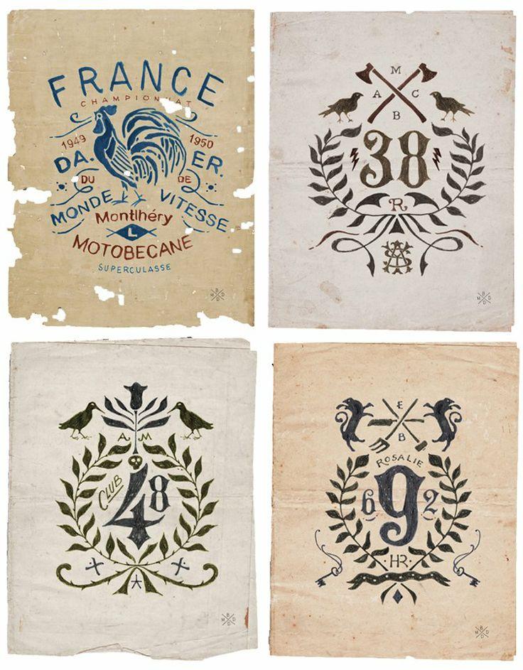 The retro hand-drawn branding of Bruno Michaud | StockLogos.com