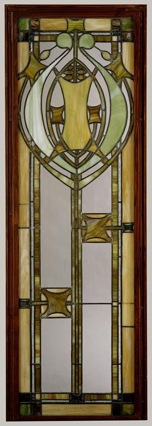 Window from J. G. Cross House, Minneapolis, Minnesota, 1911  George Grant Elmslie (American, 1871–1952); Purcell, Feick and Elmslie (American, 1909–13): 1911 George, Art Nouveau, Crafts Movement, Metropolitan Museum, Crosses House, Art History, Lead Glasses, Art Deco, Stained Glasses