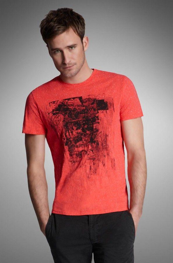 BOSS Orange Slim Fit Graffiti-Print T-Shirt.