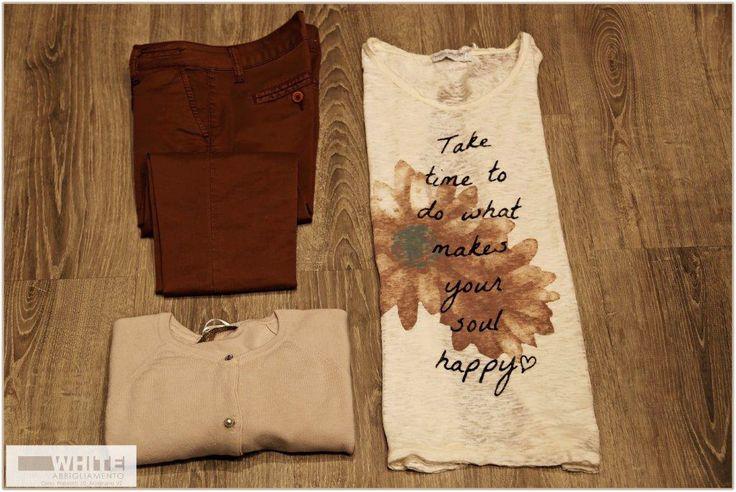 Prenditi il tuo tempo per fare quello che più ti piace. #maglietta #White #modadonna #ss15 #fiori