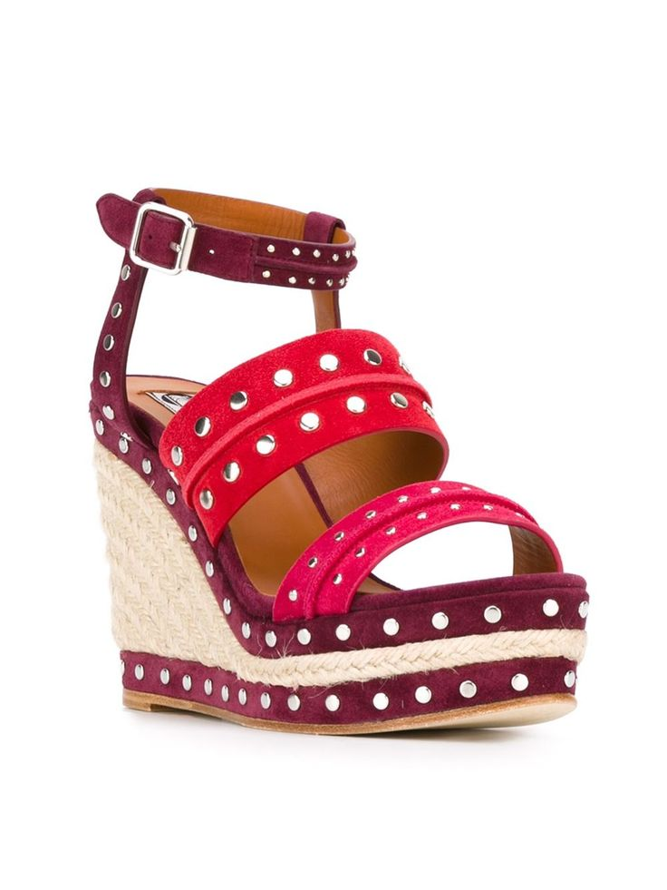 Lanvin sandales cloutées à talon compensé