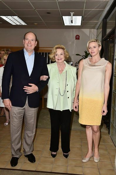 Royal Family Around the World: Prince Albert II of Monaco And Princesss Charlene Visit The Barbara Sinatra Children's Center In Rancho Mirage, California on October 11, 2014