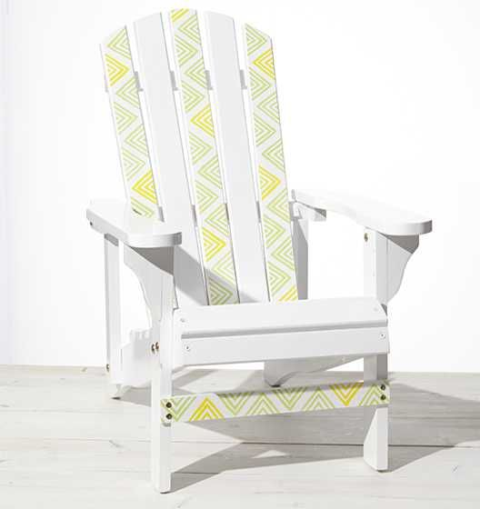 Craft Painting - Stenciled Adirondack Chairs