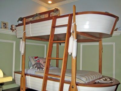 Boat Bunk Bed!!!  WOW!!! I need to find someone to build this for me!! Coolest bed ever!!