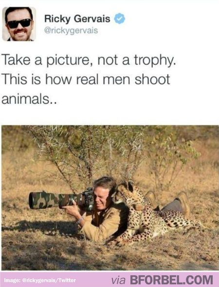 How Ricky Gervais Shoots Animals…