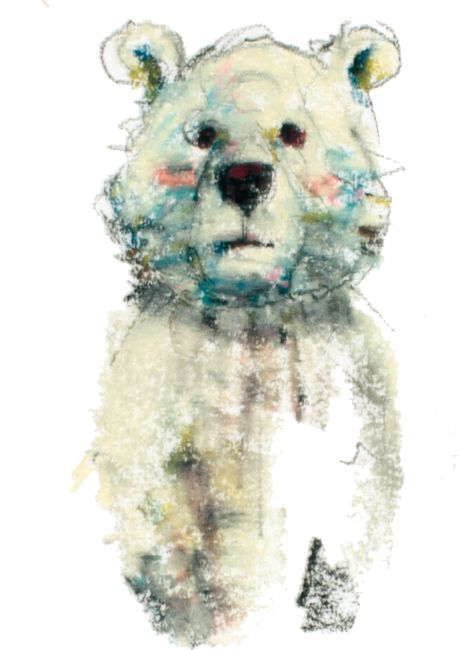 Bear くまったなぁ パステル イラスト Illustration by watanabemarico