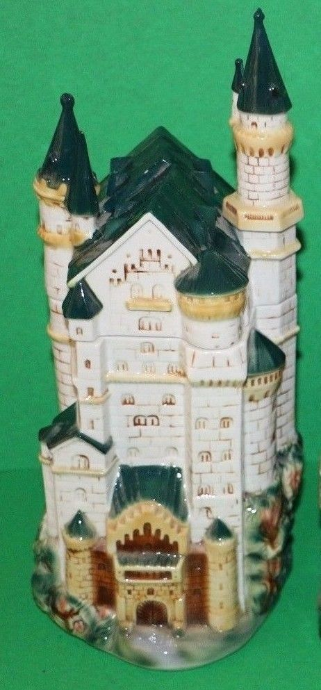 Anheuser-Busch European Castle Series Neuschwanstein Lidded Stein in box ~ RARE World Traveler or unique Father's Day gift Man Cave