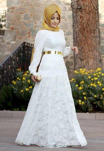 Model Dress Brokat untuk Lebaran 2016