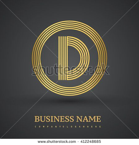 Elegant gold letter symbol. Letter D logo design. Vector logo design template elements  for company identity. - stock vector
