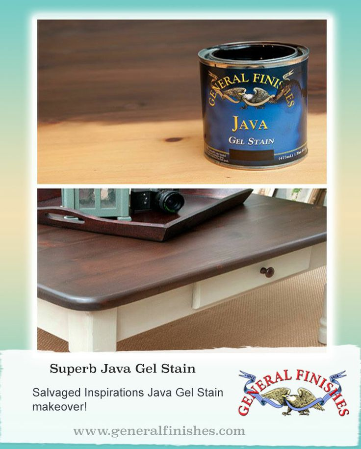 General Finishes Java Gel Stain Sure Is Popular Salvaged