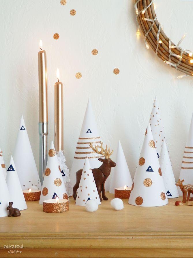 Chic et simple : la déco de Noël blanche et or #deconoel #decorationnoel