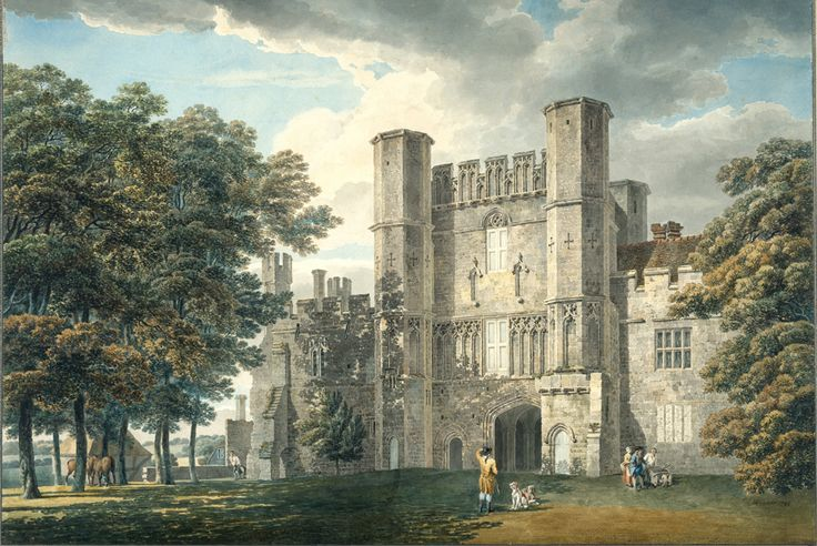 Michael Angelo Rooker, A.R.A., The Gatehouse of Battle Abbey, Sussex, 1792. Pencil and watercolour on wove paper, 41.80 x 59.70 cm. Photo: © Royal Academy of Arts, London.