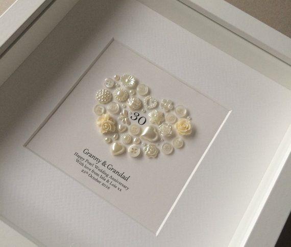 30th Anniversary Gift Pearl Wedding Anniversary 30th Wedding Etsy 30th Wedding Anniversary Gift Wedding Anniversary Presents Wedding Anniversary Cards