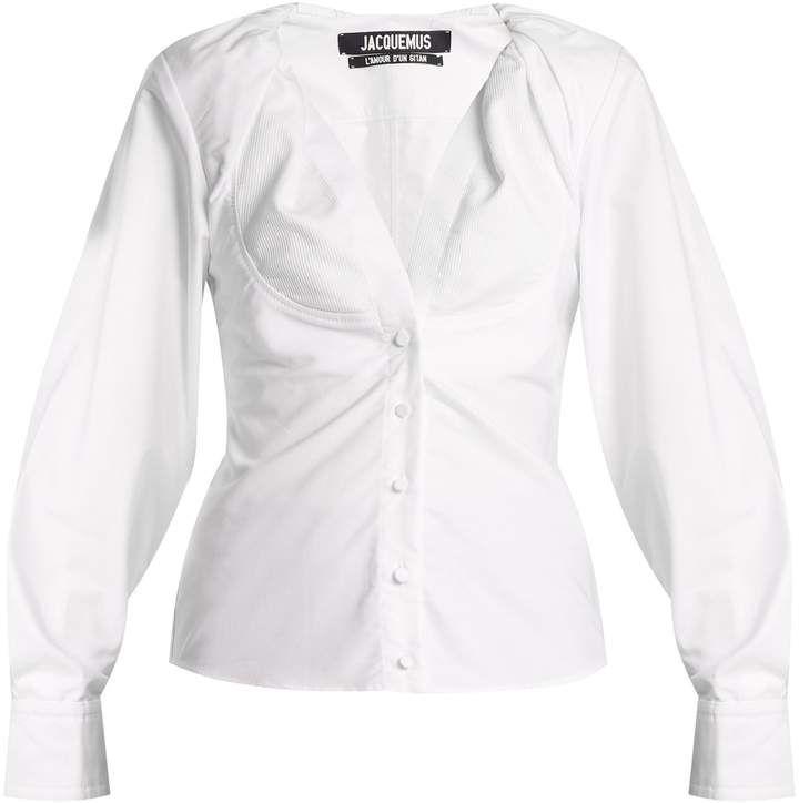 54eb6eea1da JACQUEMUS La Chemise Jacqueline oxford-cotton shirt #white #summer_cool  #stunning #shirts #shopstyle