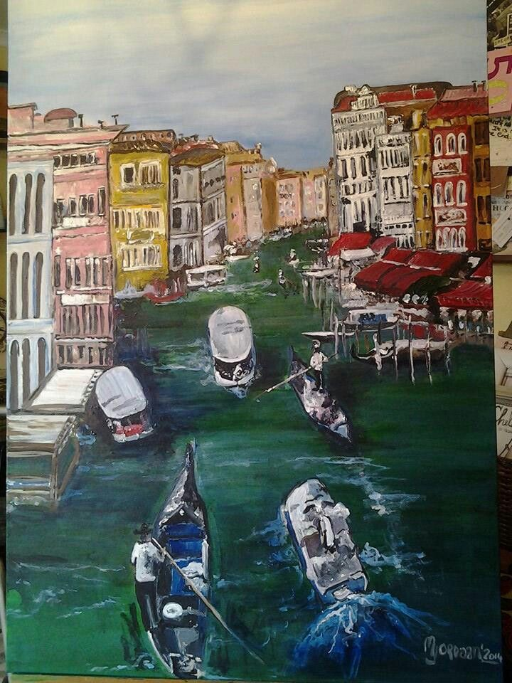 Large acrylic I painted on canvas board for a friend...contact me for similar original paintings