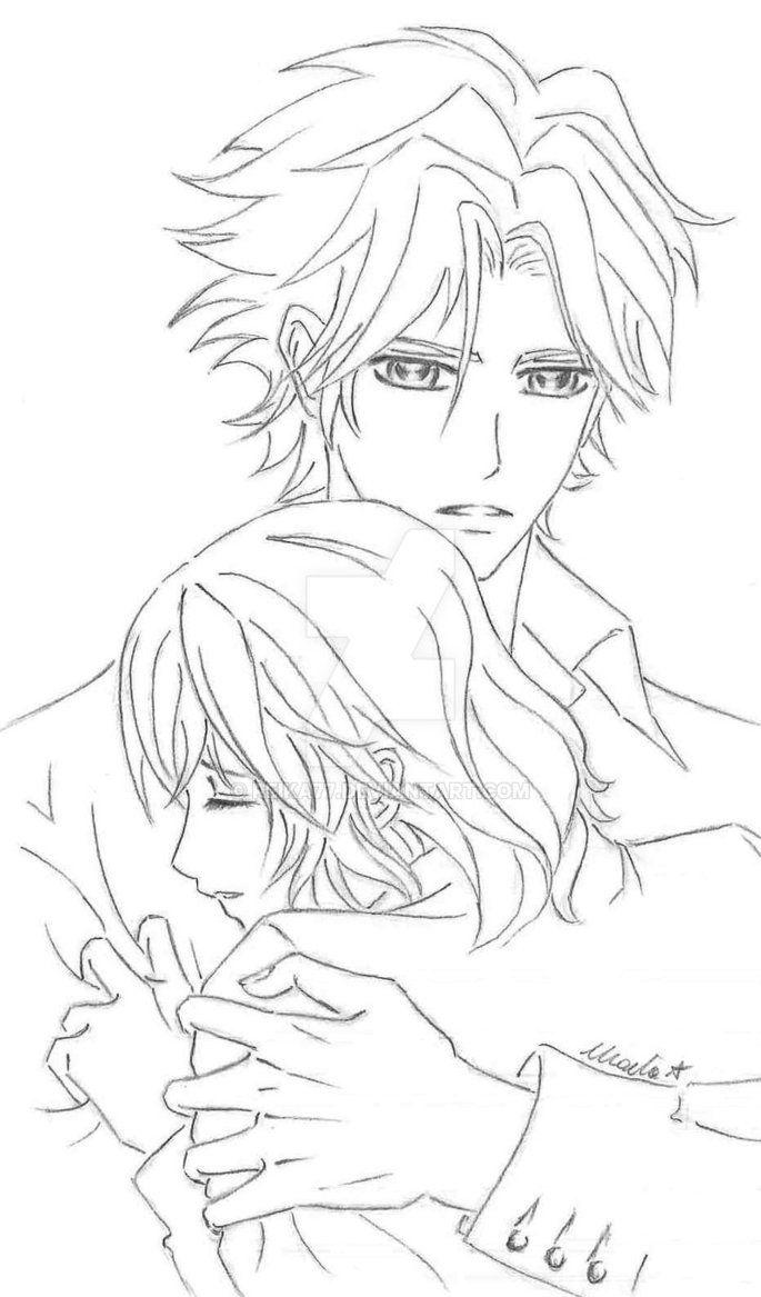AidohxYori by Reika77.deviantart.com on @DeviantArt #vampireknight #aidoh #hanabusa #yori #couple #fanart #anime #manga