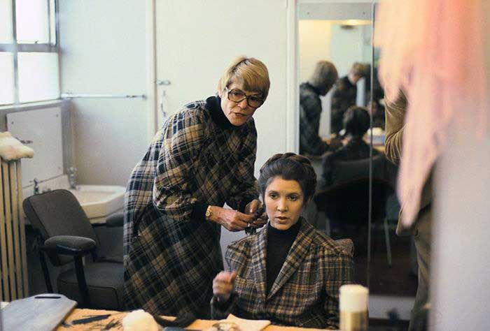 Barbara Ritchie and Carrie Fisher