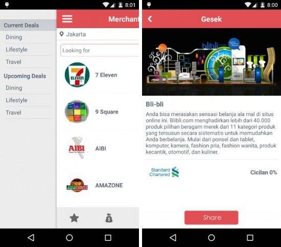 Gesek – Cara Praktis Mencari Promo Kartu Kredit dengan Android http://www.aplikanologi.com/?p=32211