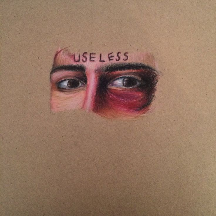 original colour pencil drawing of part of face || By Ashleigh Hunter || original photo can be found on my page