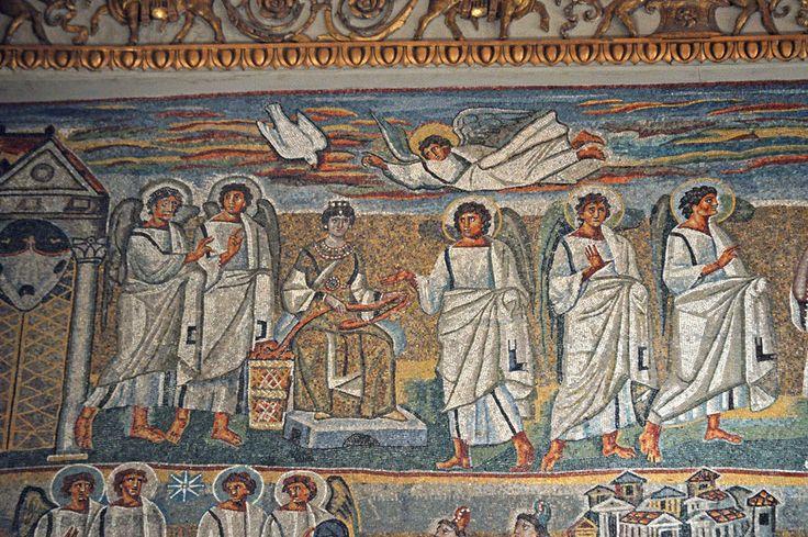 Santa Maria Maggiore, Roma, I mosaici , 432-440. Annunciazione. Foto di Pavel Otdelnov