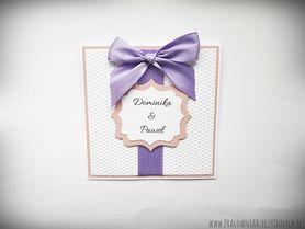 Tłoczone zaproszenia ślubne